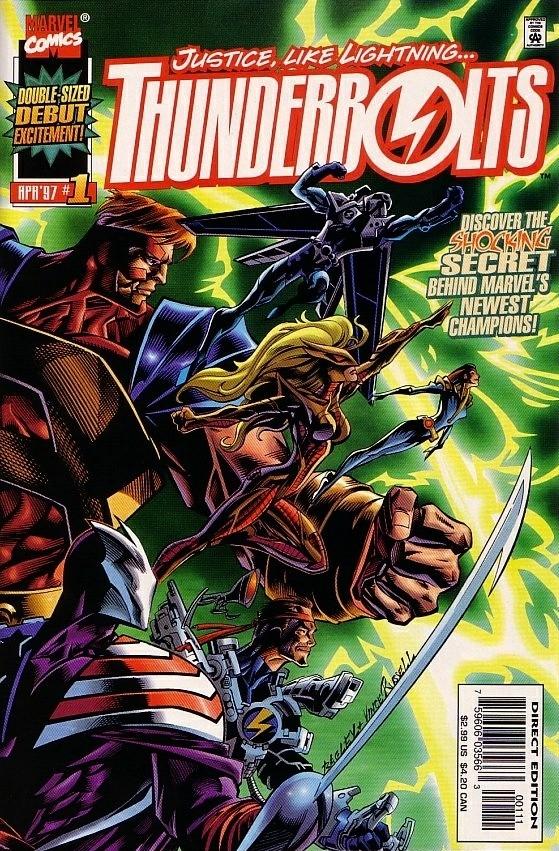 Couverture de Thunderbolts Vol.1 (Marvel Comics - 1997) -1- Justice... Like Lightning!