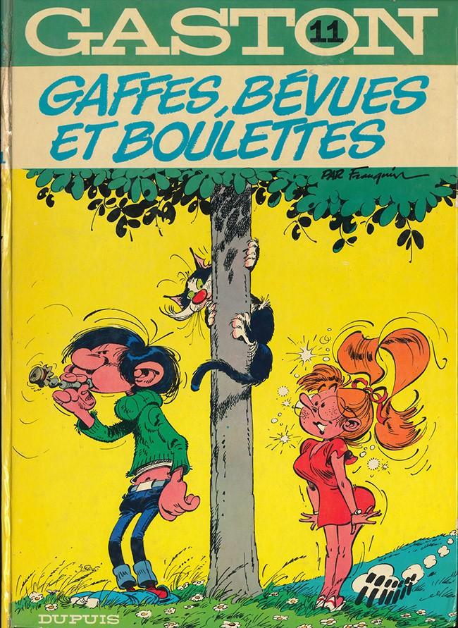 Couverture de Gaston -11- Gaffes, bévues et boulettes