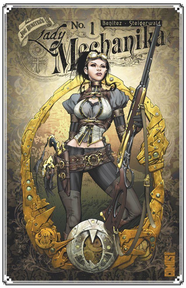 Couverture de Lady Mechanika -1- Le Mystère du corps mécanique (1re partie)