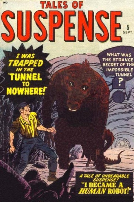 Couverture de Tales of suspense Vol. 1 (Marvel comics - 1959) -5- I Was Trapped in the Tunnel to Nowhere!