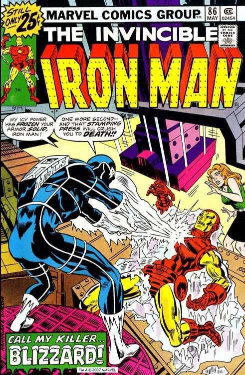 Couverture de Iron Man Vol.1 (Marvel comics - 1968) -86- The Gentleman's Name Is Blizzard!