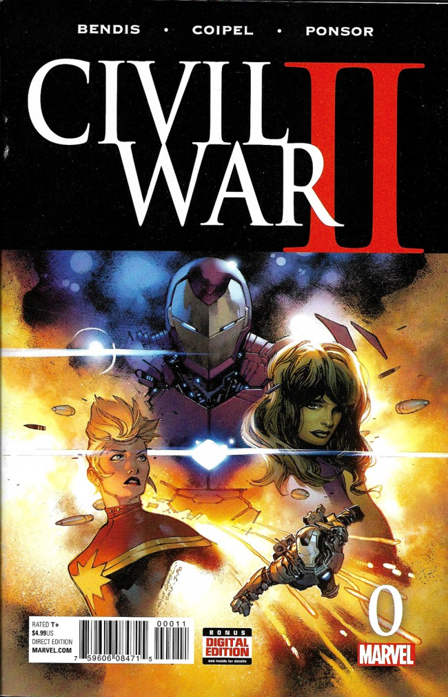 Couverture de Civil War II (2016) -0- Civil War Part 0