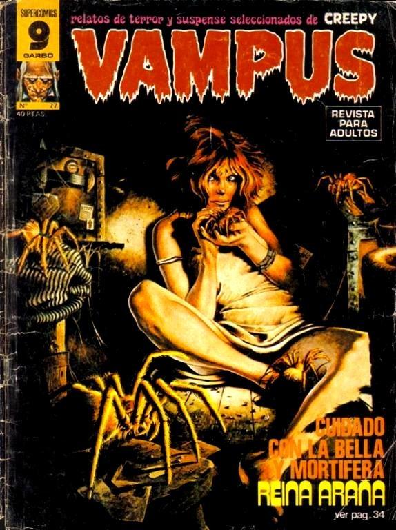 Couverture de Vampus (Creepy en espagnol) -77- Reina araña