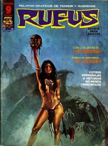 Couverture de Rufus (Eerie en espagnol) -28- El horror/El sadismo