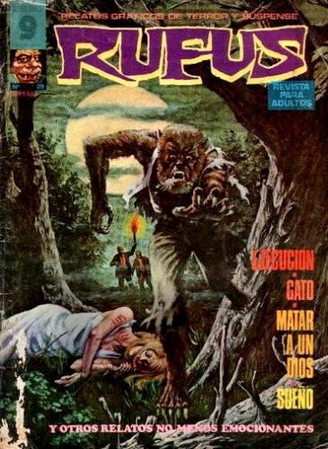 Couverture de Rufus (Eerie en espagnol) -29- Ejecución/Gato/Matar a un dios/Sueño