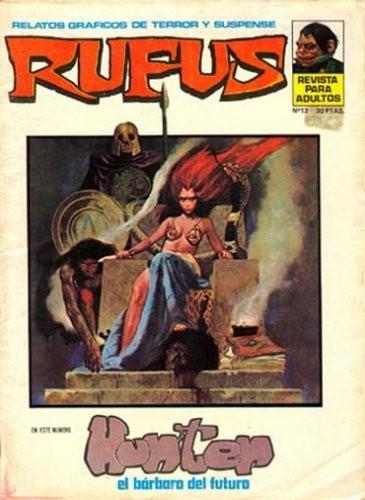 Couverture de Rufus (Eerie en espagnol) -13- Hunter, el bárbaro del futuro