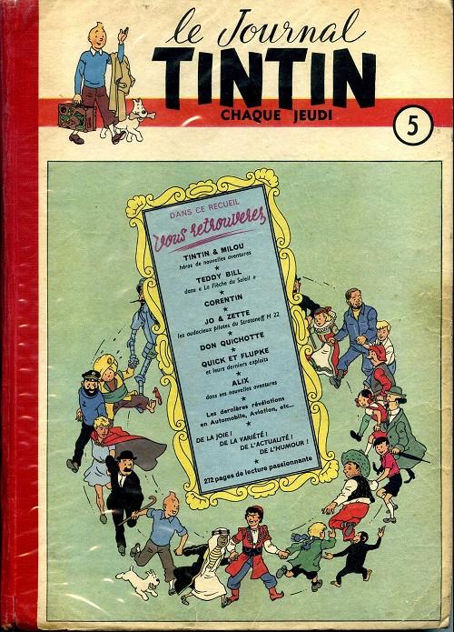 Couverture de (Recueil) Tintin (Album du journal - Édition française) -5- Tintin album du journal