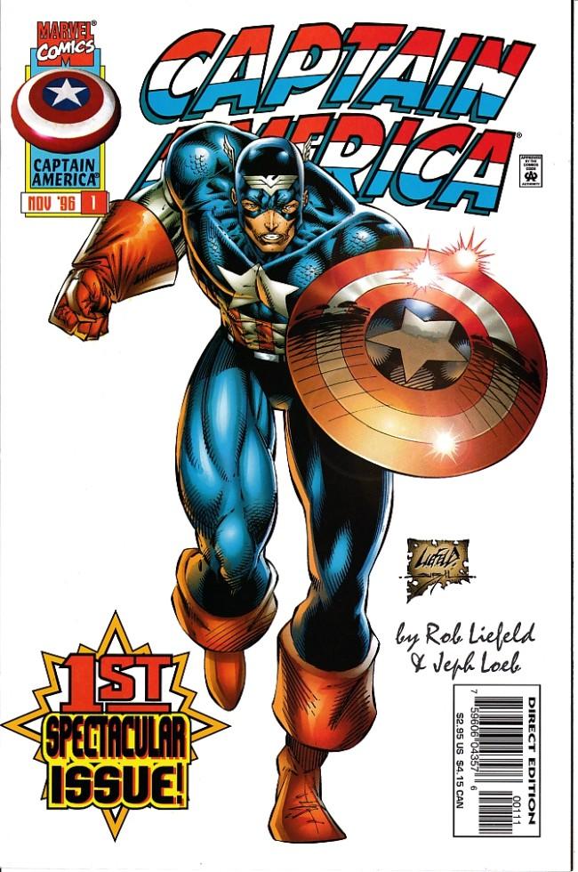 Couverture de Captain America (1996) -1- Courage
