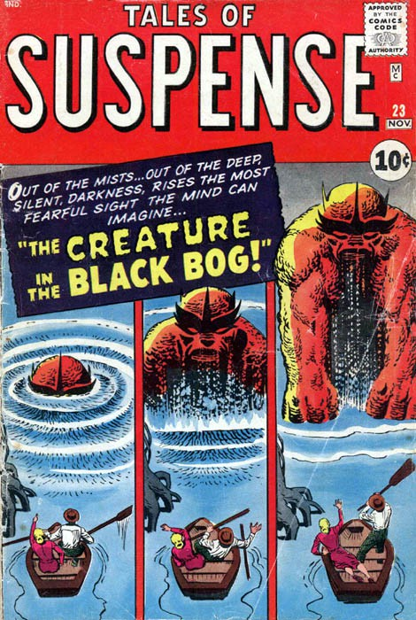 Couverture de Tales of suspense Vol. 1 (Marvel comics - 1959) -23- The Creature from the Black Bog!