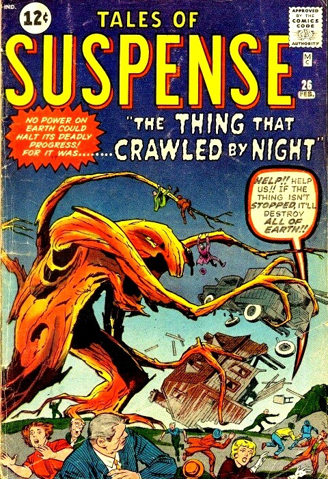 Couverture de Tales of suspense Vol. 1 (Marvel comics - 1959) -26- The thing that Crawled by Night!