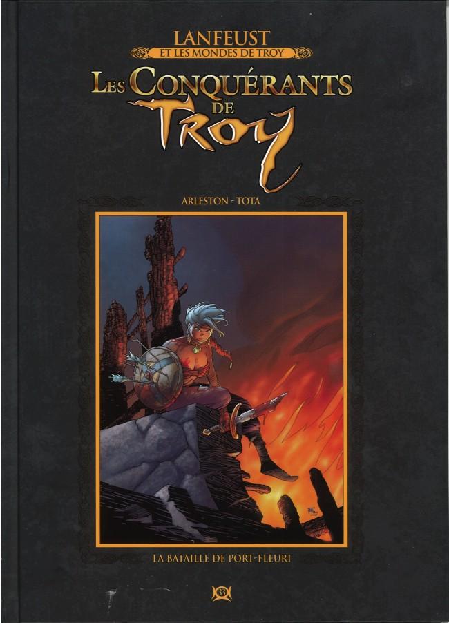 Couverture de Lanfeust et les mondes de Troy - La collection (Hachette) -33- Les Conquérants de Troy - La Bataille de Port-Fleuri