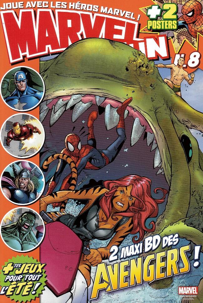 Couverture de Marvel Fun -8- 2 maxi BD des avengers