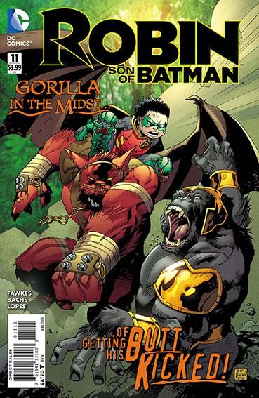 Couverture de Robin: Son of Batman (2015) -11- Massacre at Gorilla City