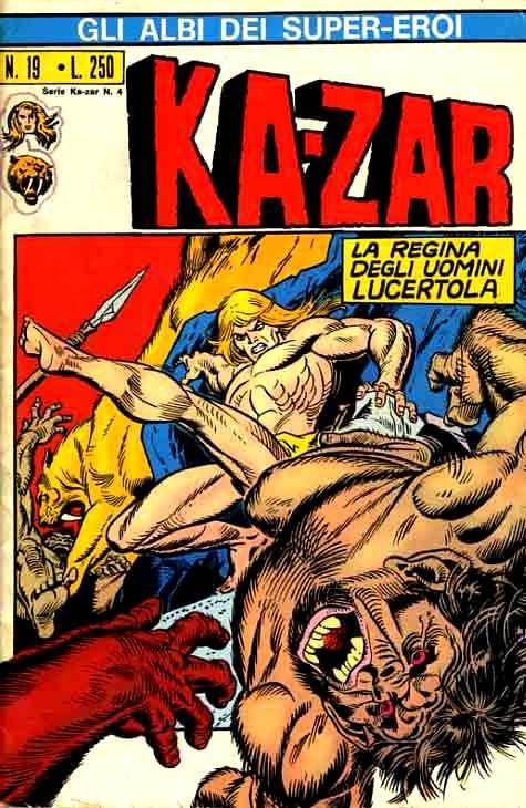 Couverture de Albi dei Super-Eroi (Gli) -19- KA-ZAR: La Regina degli Uomini Lucertola