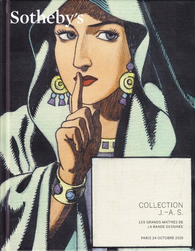 Couverture de (Catalogues) Ventes aux enchères - Divers - Sotheby's - Collection J.-A.S. Les grands maîtres de la banse dessinée - 24 octobre 2015 - Paris
