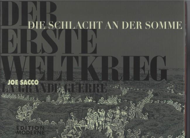 Couverture de La grande Guerre (Sacco) -ALL/FRA- Die Schlacht an der Somme