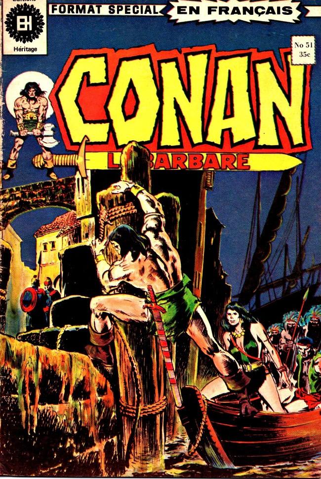 Couverture de Conan le barbare (Éditions Héritage) -51- Poignards et dieux de mort!