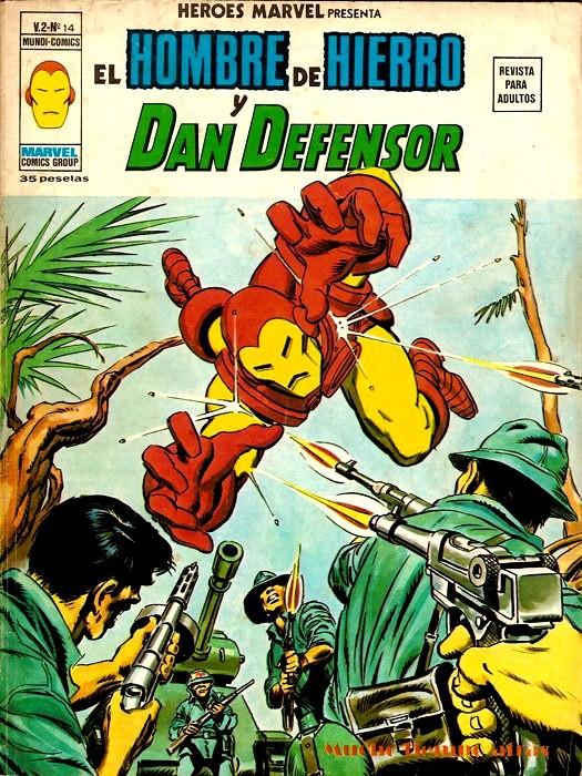 Couverture de Héroes Marvel (Vol.2) -14- El Hombre de Hierro y Dan Defensor