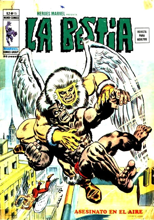 Couverture de Héroes Marvel (Vol.2) -15- La Bestia: Asesinato en el aire
