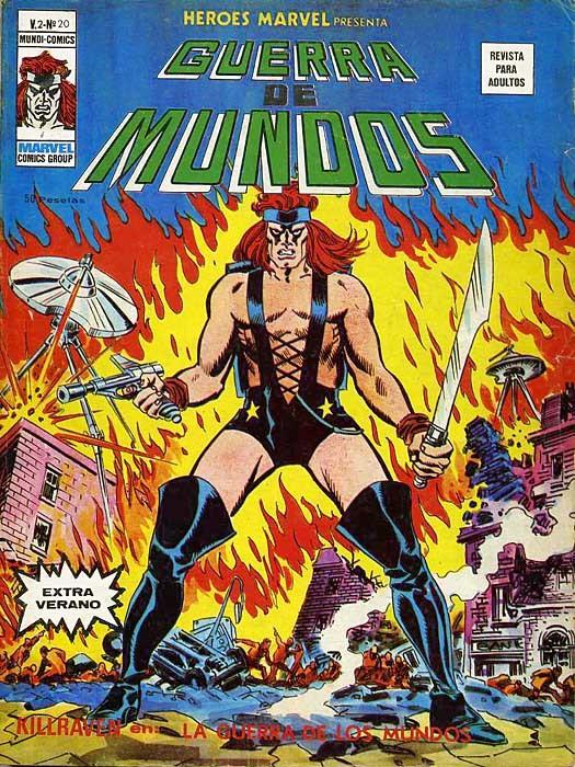Couverture de Héroes Marvel (Vol.2) -20- Killraven en: La Guerra de los Mundos