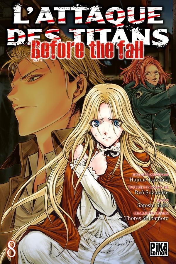 Couverture de L'attaque des Titans - Before The Fall -8- Tome 8