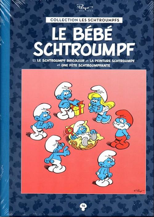 Couverture de Les schtroumpfs - La collection (Hachette) -16- Le bébé schtroumpf