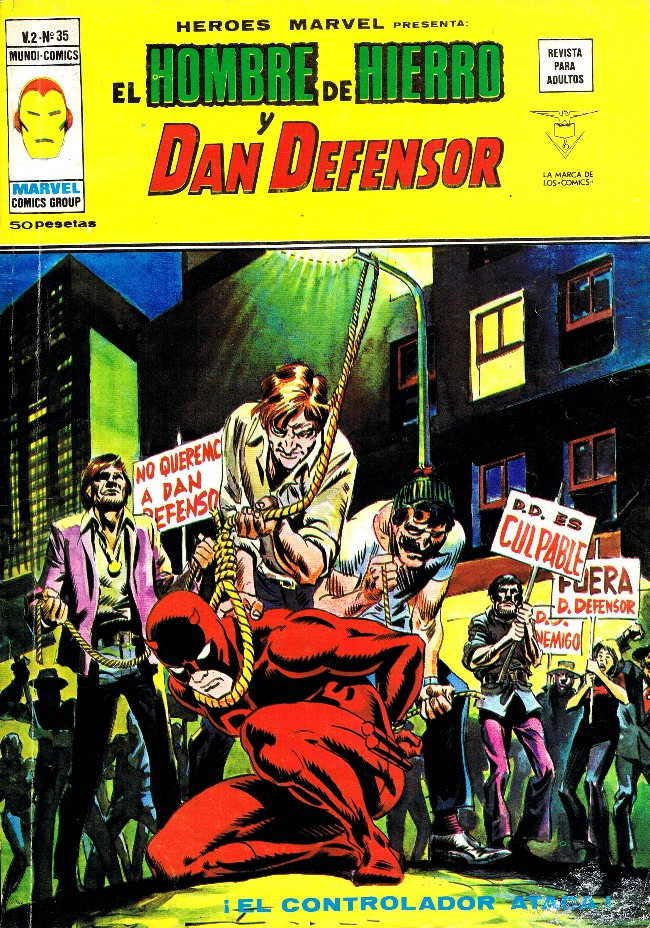 Couverture de Héroes Marvel (Vol.2) -35- iEl Controlador ataca!
