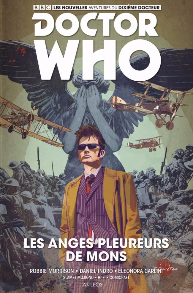 Couverture de Doctor Who - Les nouvelles aventures du dixième docteur -2- Les anges pleureurs de Mons
