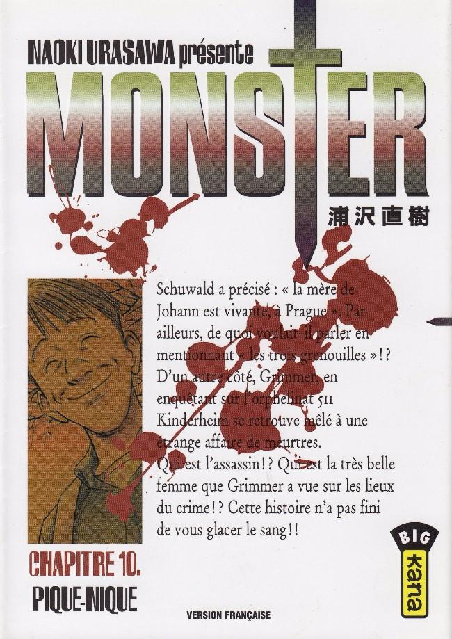 Couverture de Monster (Urasawa) -10- Pique-nique