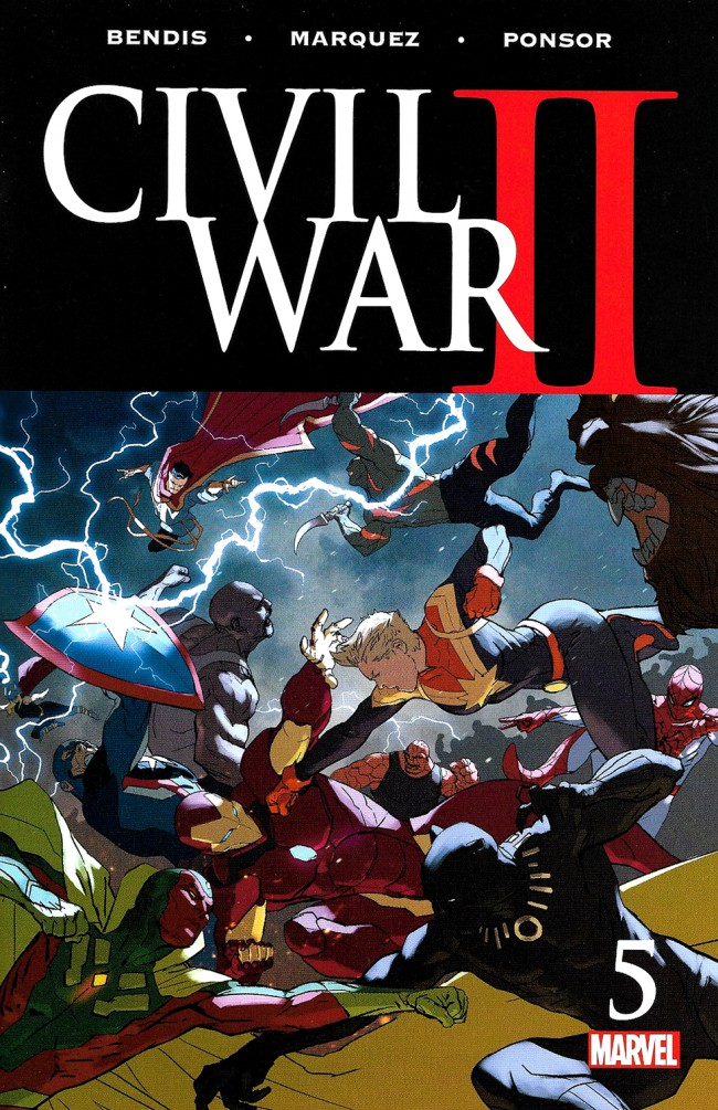 Couverture de Civil War II (2016) -5- Civil War Part 5