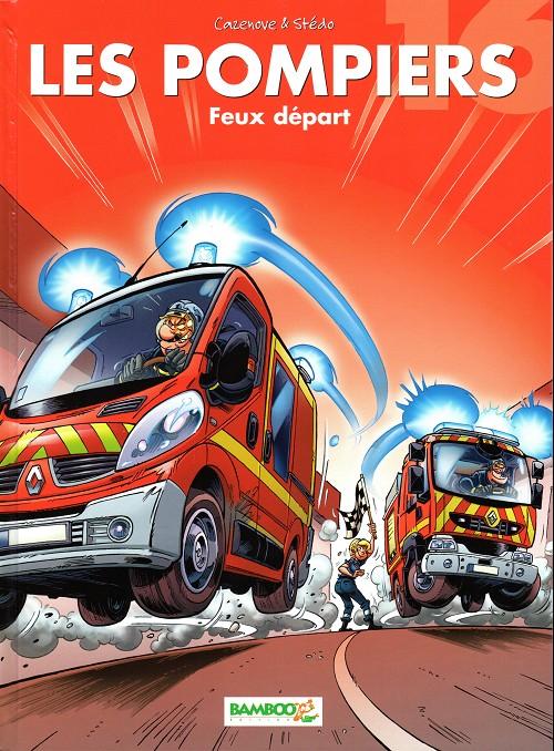 Couverture de Les pompiers -16- Feux départ