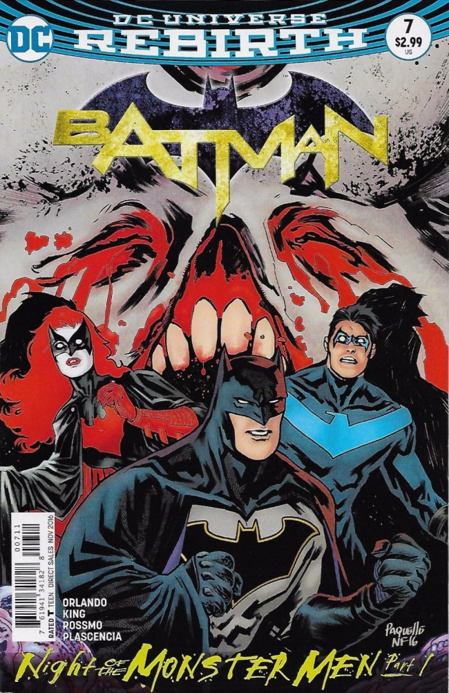 Couverture de Batman (2016) -7- Night of the Monster Men, Part One