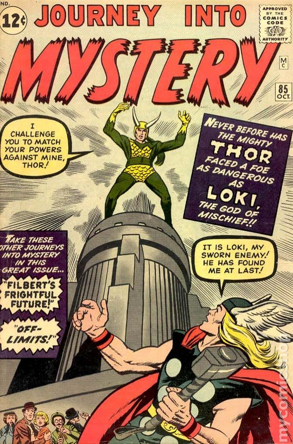 Couverture de Journey into Mystery (1952) -85- Trapped by Loki, The God!