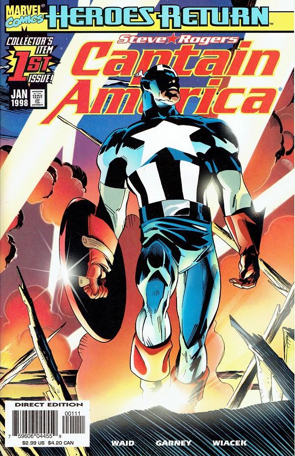 Couverture de Captain America (1998) -1- The return of Steve Rogers Captain America