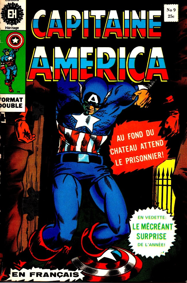 Couverture de Capitaine America (Éditions Héritage) -9- Mission: Arrêter le Cyborg!