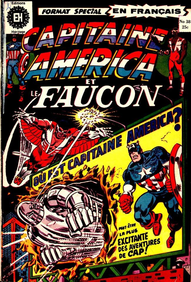 Couverture de Capitaine America (Éditions Héritage) -38- Si le Faucon tombait..!