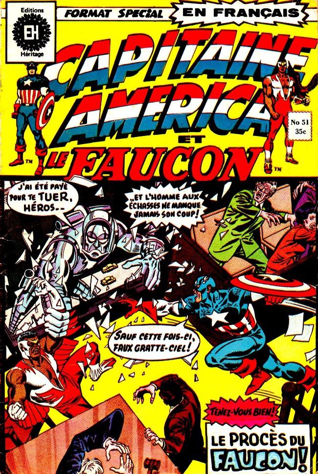 Couverture de Capitaine America (Éditions Héritage) -51- Le procès du Faucon!