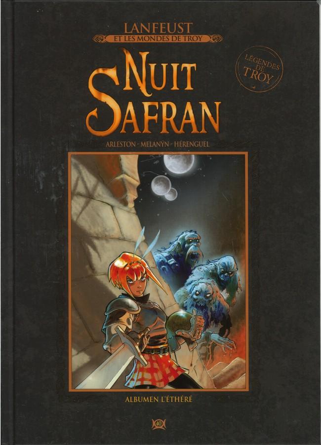 Couverture de Lanfeust et les mondes de Troy - La collection (Hachette) -40- Nuit Safran - Albumen l'Ethéré