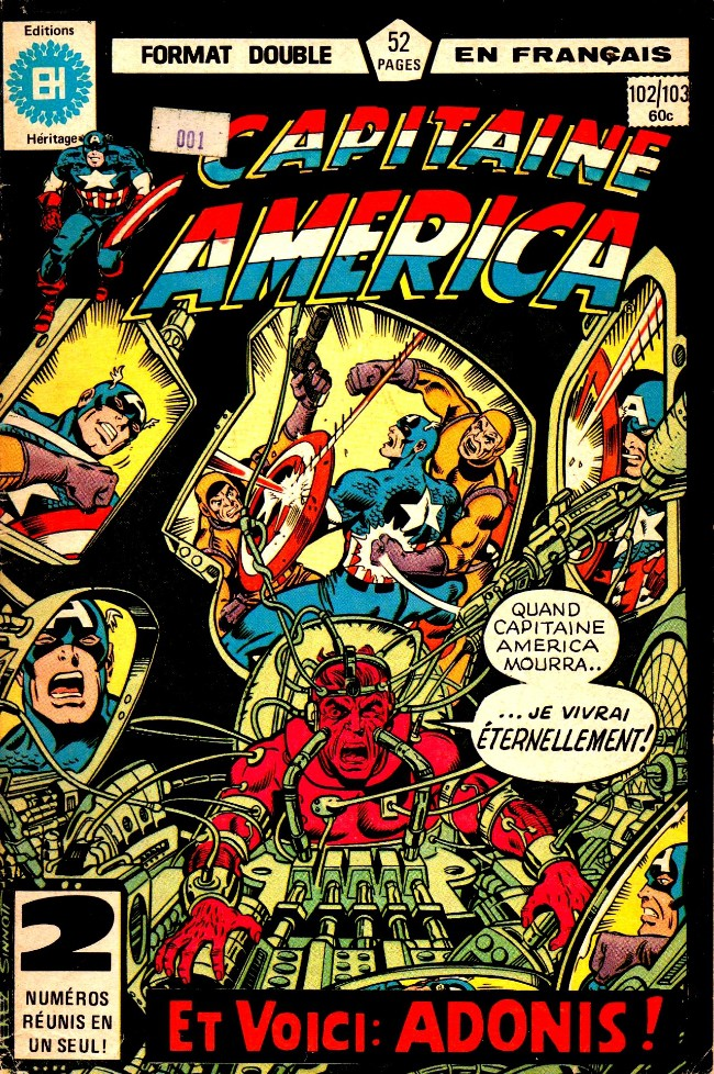 Couverture de Capitaine America (Éditions Héritage) -102103- La conspiration de Lazare!