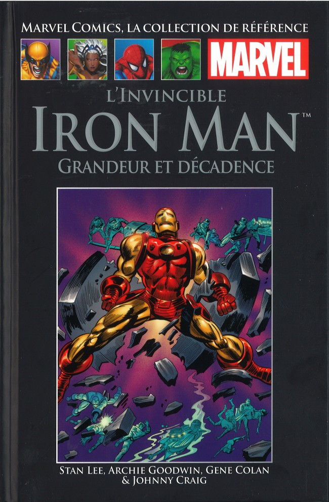 Couverture de Marvel Comics - La collection (Hachette) -71V- L'Invincible Iron Man - Grandeur et Décadence