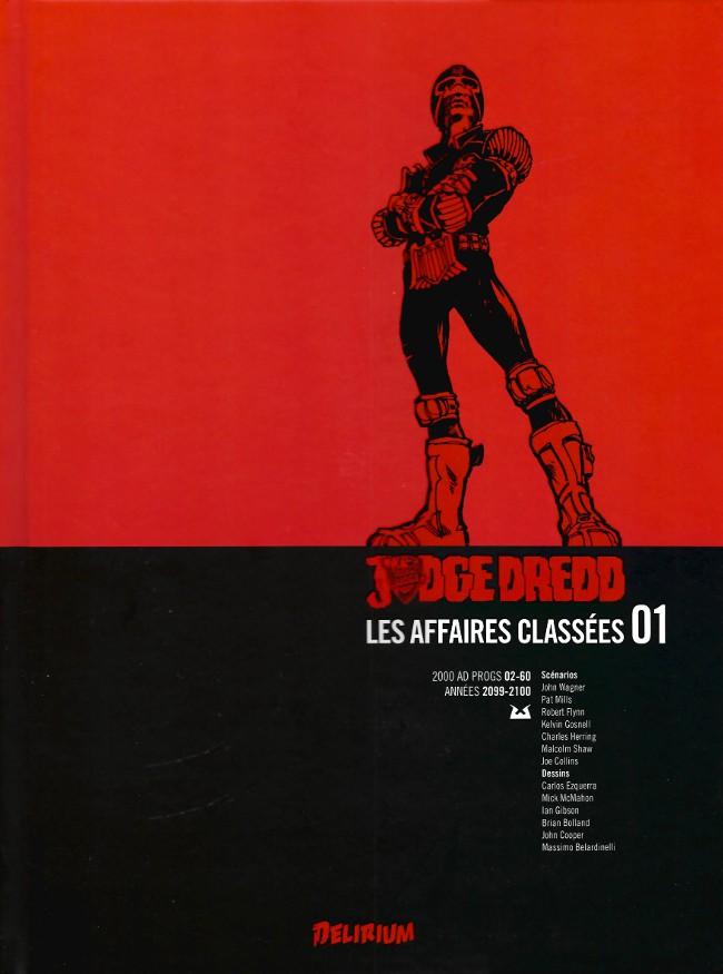 Couverture de Judge Dredd : Les Affaires classées -1- Années 2099-2100 (2000 AD progs 02-60)
