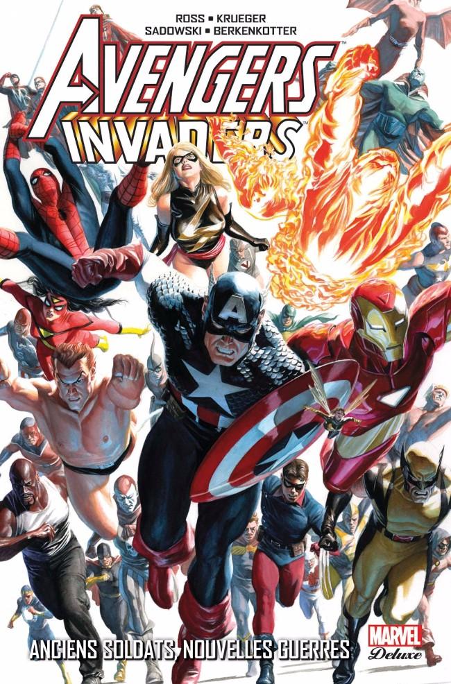 Couverture de Avengers (Marvel Deluxe) - Avengers/Invaders: Anciens Soldats, Nouvelles Guerres