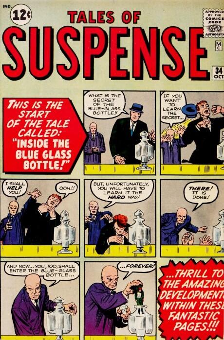 Couverture de Tales of suspense Vol. 1 (Marvel comics - 1959) -34- Inside the Blue Glass Bottle!