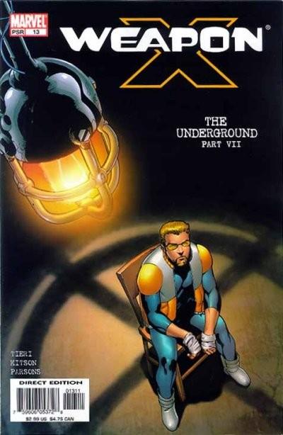 Couverture de Weapon x (2002) -13- The underground: part 7