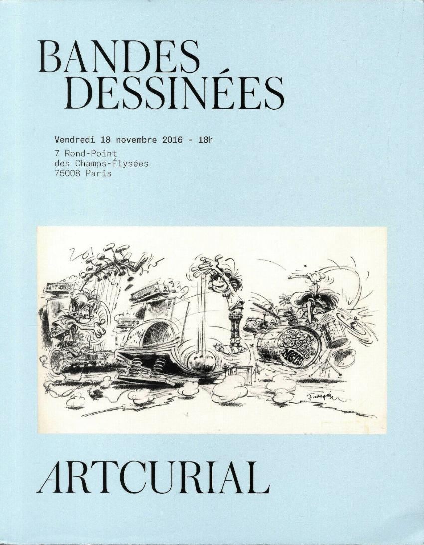 Couverture de (Catalogues) Ventes aux enchères - Artcurial - Artcurial - Bandes Dessinées - Vendredi 18 novembre 2016