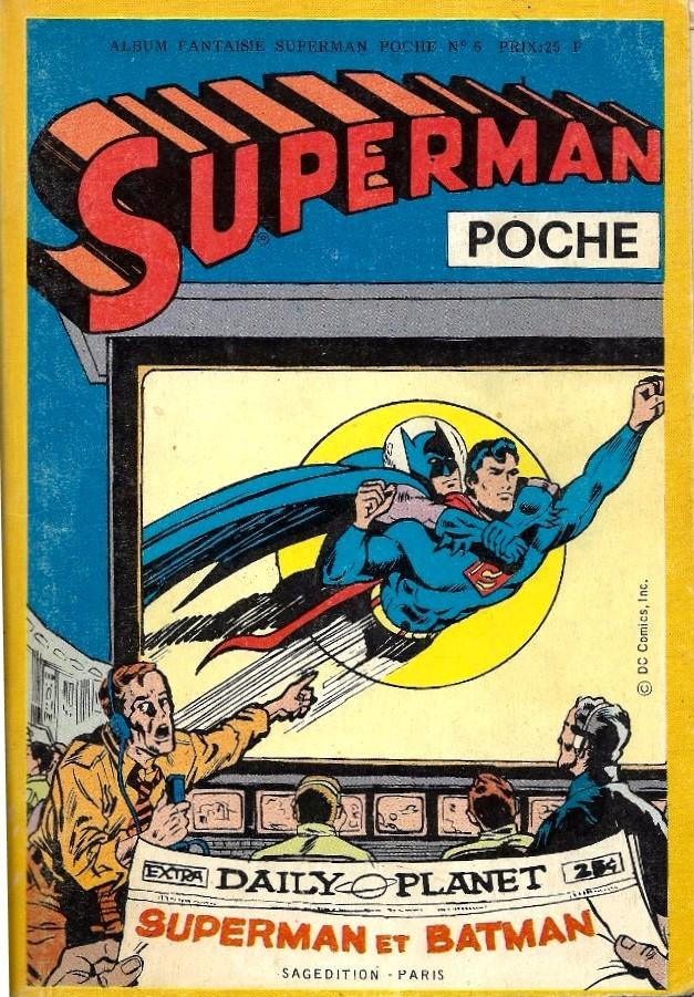 Couverture de Superman (Poche) (Sagédition) -Rec29- Album Fantaisies N°6 (du n°89 au n°91, Batman Poche n°52)