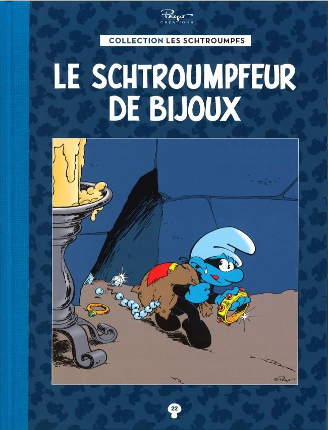 Couverture de Les schtroumpfs - La collection (Hachette) -22- Le Schtroumpfeur de Bijoux