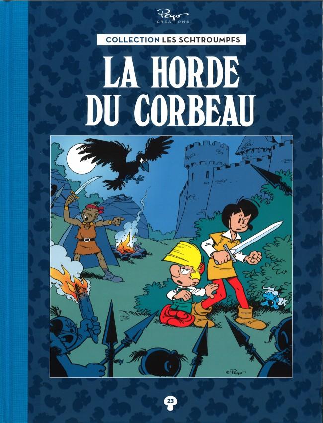 Couverture de Les schtroumpfs - La collection (Hachette) -23- La Horde du Corbeau