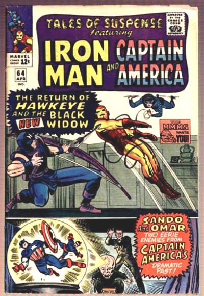 Couverture de Tales of suspense Vol. 1 (Marvel comics - 1959) -64- Hawkeye and the New Black Widow