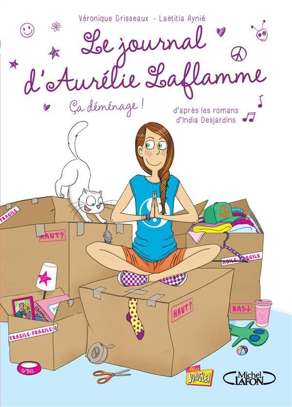Couverture de Le journal d'Aurélie Laflamme -3- ça déménage !
